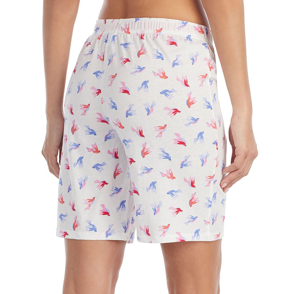 Women's Jockey Bird Print Bermuda Pajama Shorts