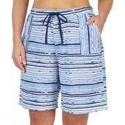 Plus Size Jockey Striped Bermuda Pajama Shorts