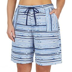Plus Size Jockey Striped Bermuda Pajama Shorts