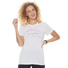 Juniors' SO® Graphic Cutout Tee