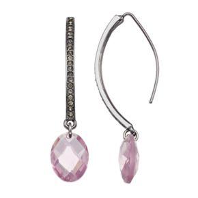 Simply Vera Vera Wang Oval Drop Nickel Free Threader Earrings