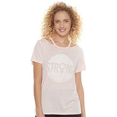 Juniors' SO® Cutout Graphic Tee