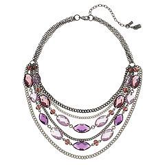 Simply Vera Vera Wang Faceted Stone Swag Necklace