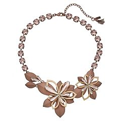 Simply Vera Vera Wang Asymmetrical Flower Necklace