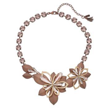 Simply Vera Vera Wang Asymmetrical Flower Necklace