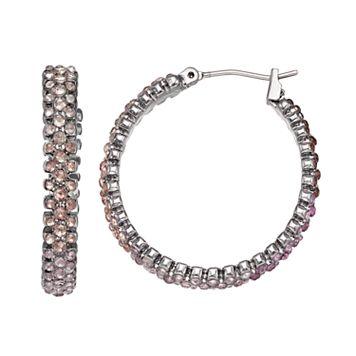 Simply Vera Vera Wang Ombre Nickel Free Hoop Earrings