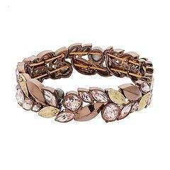 Simply Vera Vera Wang Leaf Marquise Stone Stretch Bracelet