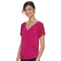 Women's Jennifer Lopez Crossover Ruched Tee