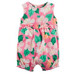 Baby Girl Carter's Floral Ruffle Romper