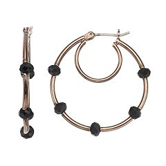 Simply Vera Vera Wang Beaded Nickel Free Double Hoop Earrings