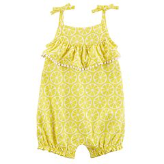 Baby Girl Carter's Lemon Ruffled Romper