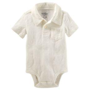 Baby Boy OshKosh B'gosh® Slubbed Polo Bodysuit
