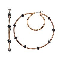 Simply Vera Vera Wang Burnished Nickel Free Hoop Earrings