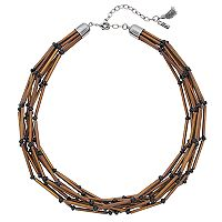 Simply Vera Vera Wang Burnished Tube Multi Strand Necklace