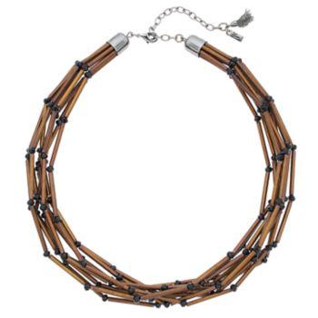 Simply Vera Vera Wang Burnished Tube Multi Strand Necklace