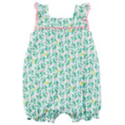 Baby Girl Carter's Leaf Romper