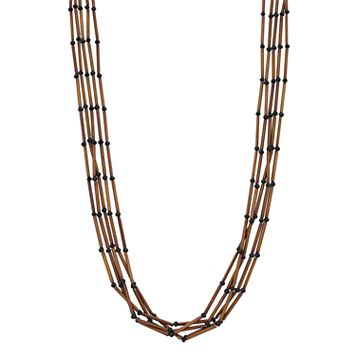 Simply Vera Vera Wang Long Burnished Tube Multi Strand Necklace