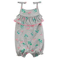 Baby Girl Carter's Flamingo Ruffle Romper