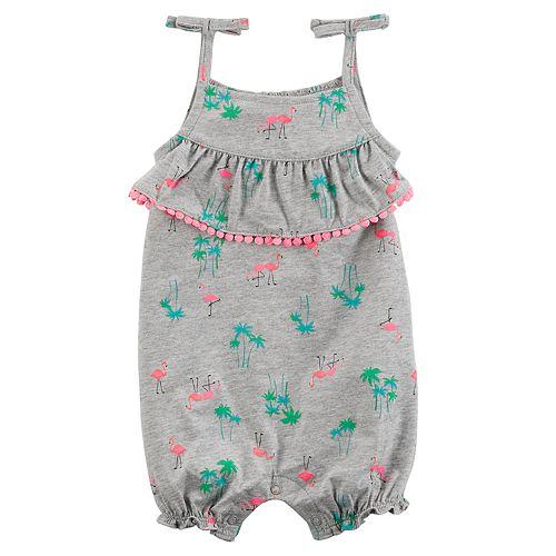 a3740156abf Baby Girl Carter s Flamingo Ruffle Romper