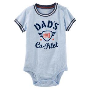 """Baby Boy OshKosh B'gosh® """"Dad's No. 1 Co-Pilot"""" Bodysuit"""