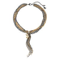 Simply Vera Vera Wang Two Tone Chain Y Necklace