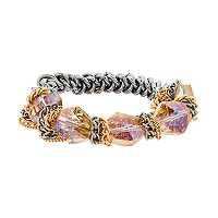 Simply Vera Vera Wang Two Tone Iridescent Bead Stretch Bracelet