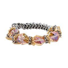 Simply Vera Vera Wang Two Tone Iridescent Bead Stretch Bracelet