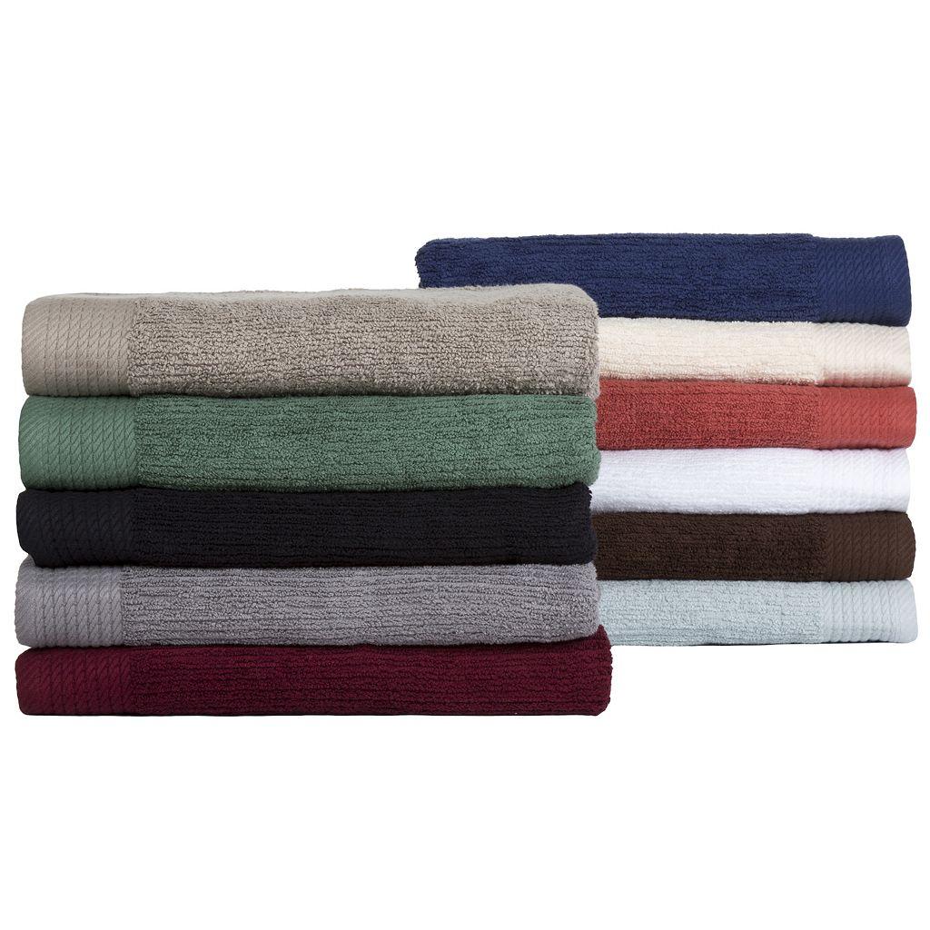 Portsmouth Home Ribbed Cotton 10-piece Bath Towel Set