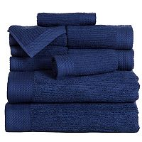 Portsmouth Home Ribbed Cotton 10-piece Bath Towel Set