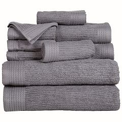 Portsmouth Home Ribbed Cotton 10 pc Bath Towel Set