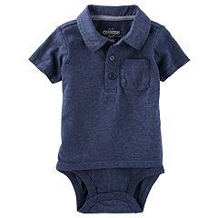 Baby Boy OshKosh B'gosh® Pocket Double Layer Polo Bodysuit