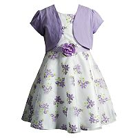 Girls 4-6x Youngland Organza Floral Dress & Shrug Set