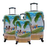Chariot Novelty Print 3 pc Hardside Spinner Luggage Set