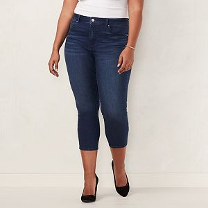 85b806b10715b Plus Size LC Lauren Conrad Capri Skinny Jeans