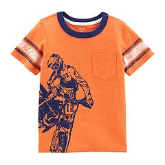 Toddler Boy Carter's Dirt Bike Wraparound Graphic Pocket Tee