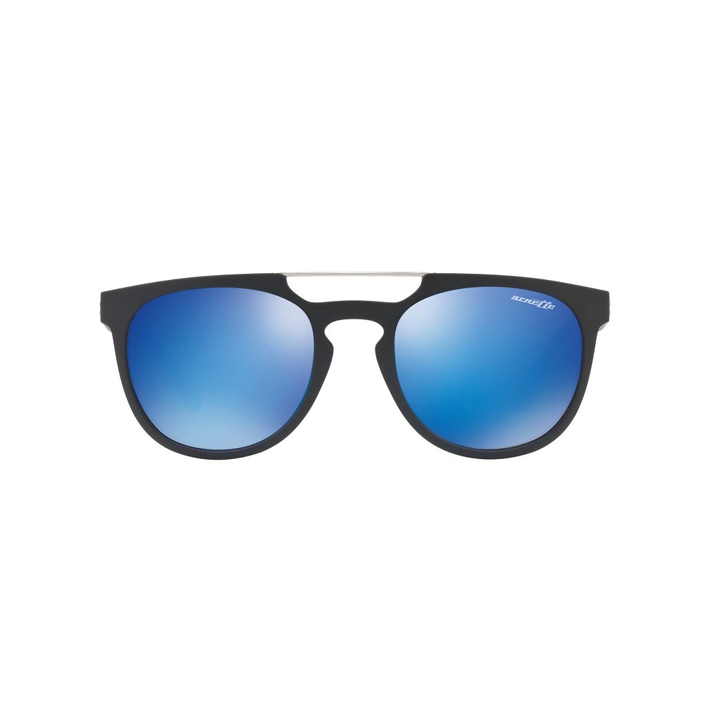 Arnette Woodward AN4237 52mm Rectangle Mirror Sunglasses