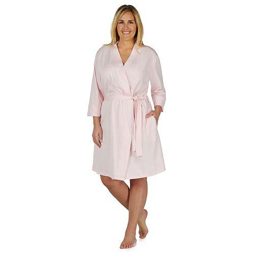 Plus Size Jockey Modern Wrap Robe