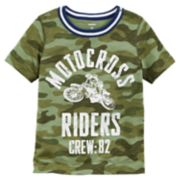 "Toddler Boy Carter's Camouflaged ""Motocross Riders"" Tee"