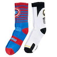 Boys 8-20 Avengers 2-pk Crew Socks