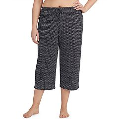 Plus Size Jockey Printed Crop Pajama Pants