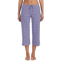 Women's Jockey Print Crop Pajama Pants