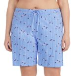 Plus Size Jockey Printed Bermuda Pajama Shorts
