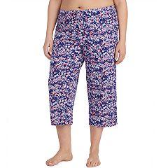 Plus Size Jockey Print Crop Pajama Pants