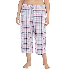 Plus Size Jockey Print Crop Pajama Pants