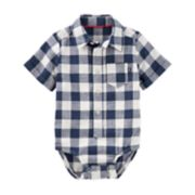 Baby Boy OshKosh B'gosh® Checked Bodysuit