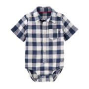 Baby Boy OshKosh B'gosh® Checked Bodysuit
