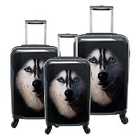 Chariot Novelty Print 3-piece Hardside Spinner Luggage Set