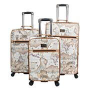 Chariot Map 3 pc Spinner Luggage Set