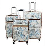 Chariot Map 3-piece Spinner Luggage Set