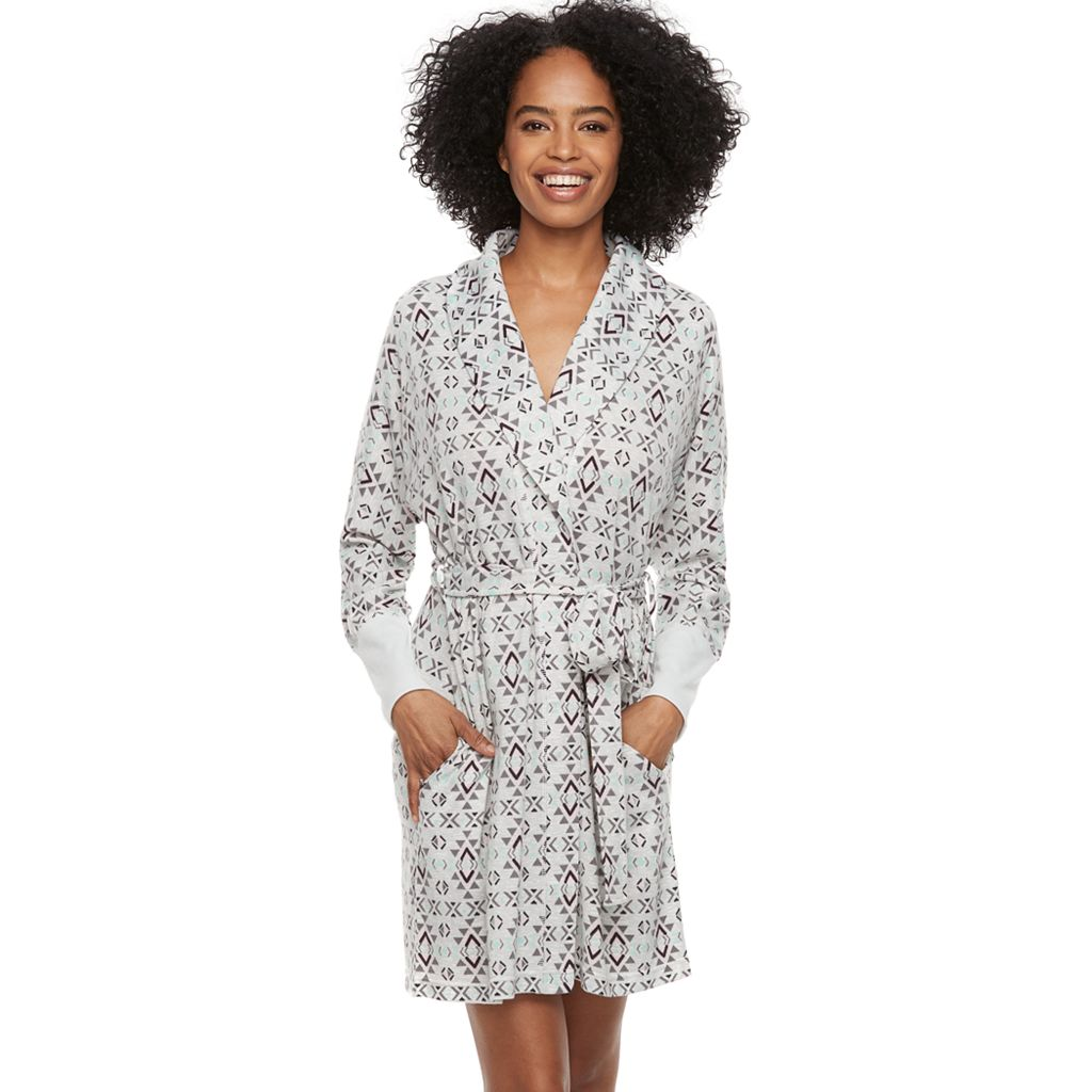 Women's SONOMA Goods for Life™ Belted Shawl Collar Robe